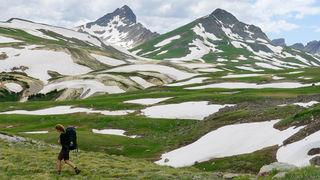 hiking, tundra, Wetterhorn Peak, San Juan Mountains, Colorado