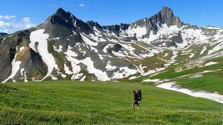Wetterhorn Peak, hiking, tundra, Uncompahgre Wilderness, Colorado