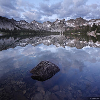 Alice Lake, Sawtooth Mountains, Idaho, reflection
