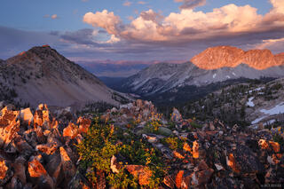 Toxaway, Sawtooth Mountains, Idaho, sunset