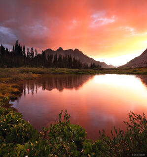 Animas Mountain, San Juan Mountains, Colorado, Weminuche Wilderness, sunset