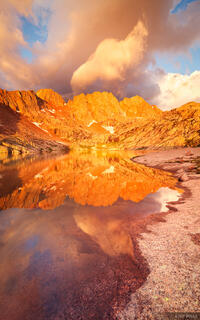 Sunlight Peak, Windom Peak, sunrise, reflection, Weminuche Wilderness, San Juan Mountains, Colorado