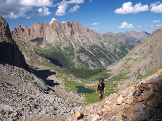 Needle Mountains, San Juan Mountains, Colorado, hiking, august