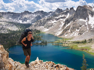 hiking, Sawtooth Mountains, Idaho, Twin Lakes