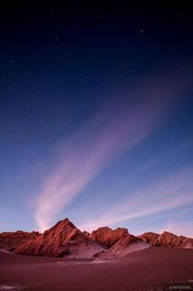 Valle de la Muerte, San Pedro de Atacama, Chile, moonlight