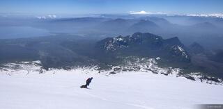 Volcan Villarica Snowboard Pano