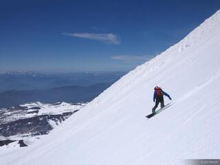 Chile, Pucón, South America, Volcán Villarica, snowboarding