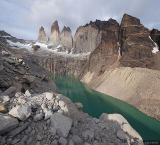 Chile, South America, Torres del Paine, Las Torres, Torre Sur De Agostini, Patagonia