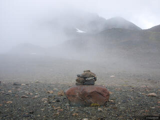 Cairn in the Fog