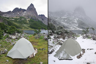 Laguna Martillo Snowy Tents