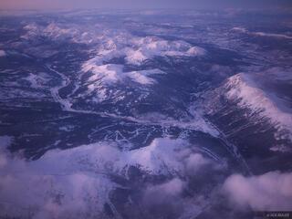 aerial, Copper Mountain, Colorado, Gore Range, January