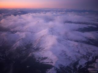 Square Top Mountain, Colorado, aerial, winter, january, sunset