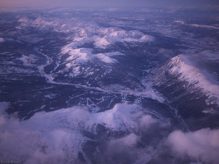 aerial, Copper Mountain, Colorado, Gore Range, January