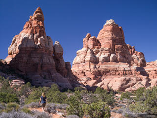 Canyonlands National Park, Utah, Needles District, hiking
