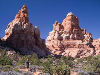 Canyonlands National Park, Utah, Needles District, hiking