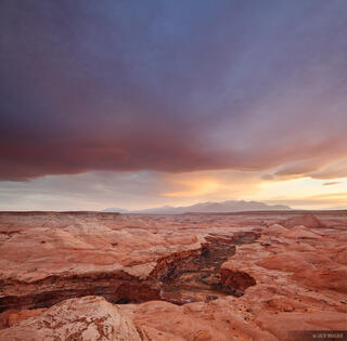 Robbers Roost Canyon, Henry Mountains, Utah, sunset