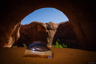 Coyote Gulch, Escalante, Utah, moonlight, tent, Glen Canyon National Recreation Area