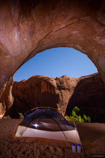 Coyote Gulch, Escalante, Escalante National Monument, Utah, moonlight, tent, Grand Staircase-Escalante National Monument