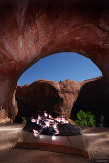 Sleepy Hollow Canyon, tent, Escalante, Utah, alcove, Glen Canyon National Recreation Area