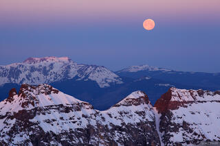 supermoon, Mt. Sneffels, San Juan Mountains, Colorado, moon, San Miguel Range