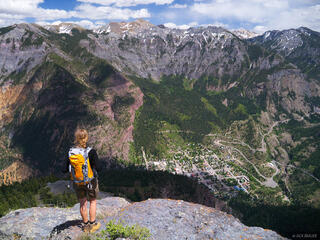 Colorado,Ouray,San Juan Mountains, Twin Peaks, hiker, hiking