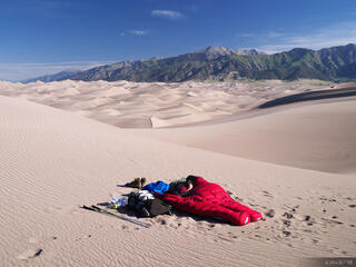 camping, Great Sand Dunes, Colorado, June
