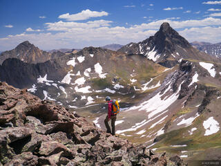 Redcliff, Wetterhorn Peak, hiking, June, Uncompahgre Wilderness, Colorado