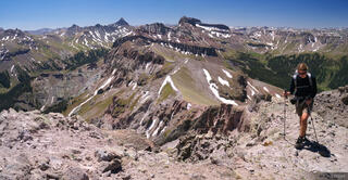 Cimarrons,Colorado,Precipice Peak,San Juan Mountains, Wetterhorn Peak, Coxcomb Peak, hiking