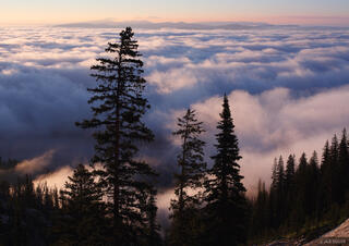 Jackson Hole, Wyoming, inversion, clouds, Tetons, Grand Teton National Park