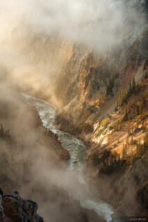 Grand Canyon of the Yellowstone, Yellowstone National Park, Wyoming, sunrise, Lookout Point