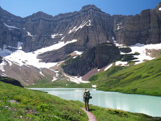 Cracker Lake, Glacier National Park, Montana, hiking