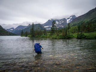 Glacier National Park, Montana, Mokowanis River, Cosley Lake