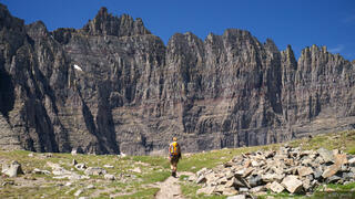 Piegan Pass, Glacier National Park, Montana, hiking