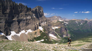Piegan Pass, Glacier National Park, Montana, hiking, Mount Gould, Cataract Creek
