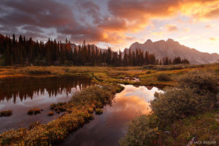 San Juan Mountains, Weminuche Wilderness, Colorado, sunset