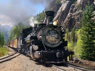 Durango & Silverton Narrow Gauge Railroad, train, Elk Park, railroad, train