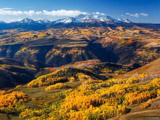 Wilson Peak, Wilson Mesa, aspens, Last Dollar Mountain, San Juan Mountains, Colorado, September, autumn, San Miguel Range