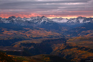 Silver Mountain, Yellow Mountain, Ophir, Telluride, San Juan Mountains, Colorado, sunrise