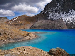 Columbine Lake, San Juan Mountains, Colorado, October, blue