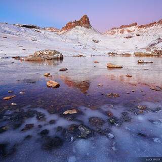Ice Lakes, San Juan Mountains, Colorado, October, icy, ice, dawn