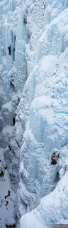 Ouray Ice Park, Colorado, ice climbers, climbing, ice, panorama