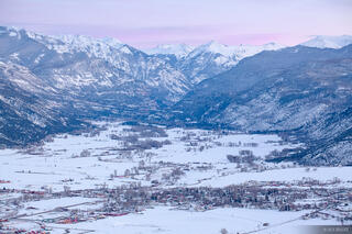 Ridgway, Colorado, San Juan Mountains, February, winter, dusk