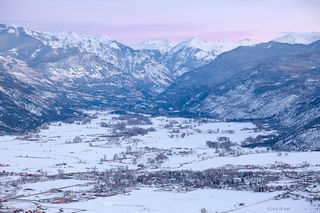 Ridgway, Colorado, San Juan Mountains, February, winter, dusk