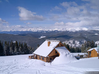 Jackal Hut, Gore Range, Mt. Elbert, Sawatch Range, Colorado, winter