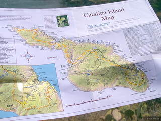 California, Catalina Island, map