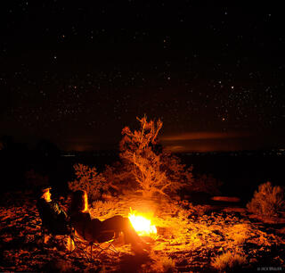 bonfire, Cedar Mesa, Utah, stars, Bears Ears National Monument