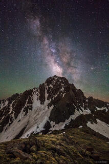 Mt. Sneffels, San Juan Mountains, Colorado, Milky Way, galaxy