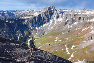 Potosi Peak, Whitehouse Mountain, San Juan Mountains, Colorado, June, hiking