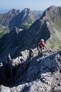 Allgäuer Alps, Germany, Mindelheimer, klettersteig