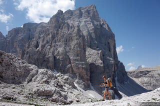 Dolomites, Europe, Italy, Zwolferkofel, hiking